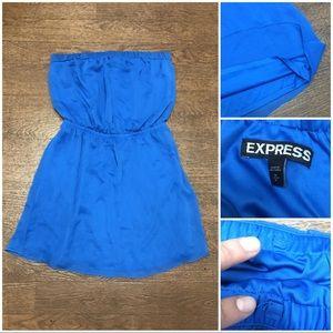 Express chiffon strapless dress